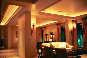 examples of sconces, cove lighting, recessed lighting, etc.